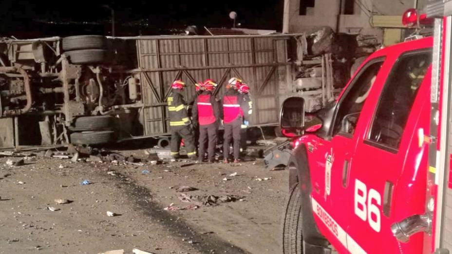 Accidente de autobús en Ecuador