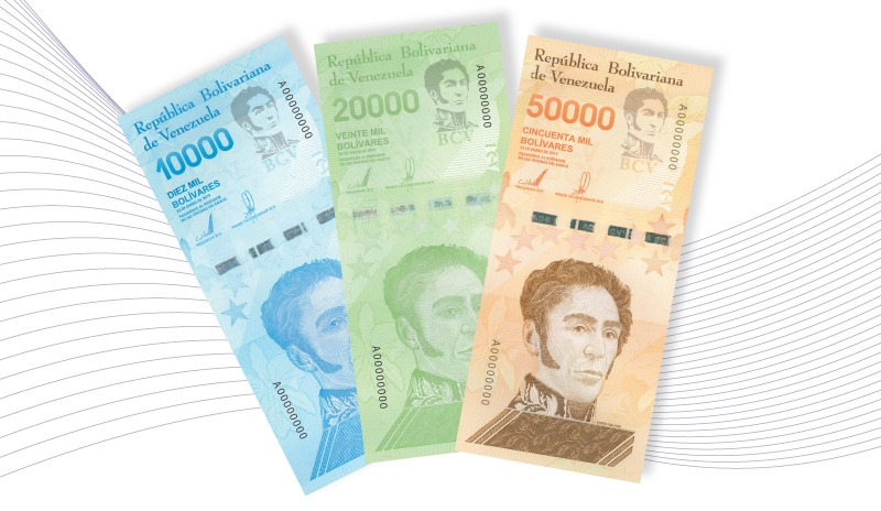 Tres nuevos billetes Venezuela
