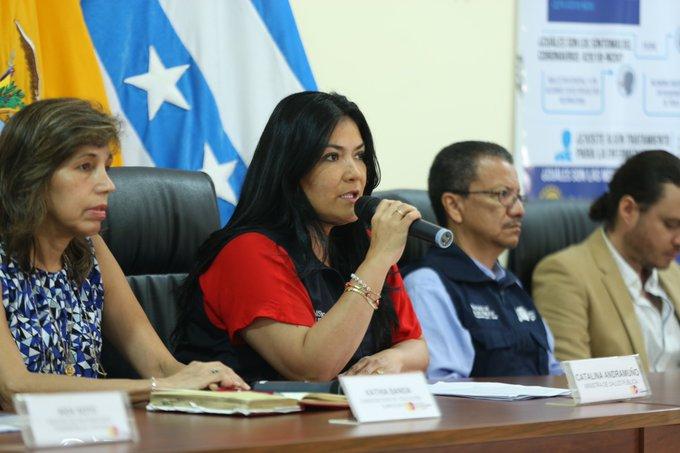 Ministra de Salud de Ecuador