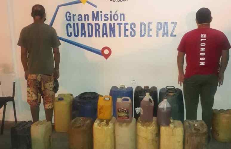 Polianzoátegui capturó a dos personas por tráfico de combustible en Barcelona